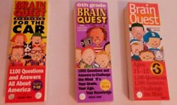Lot Of 3 Brain Quest Question Games To Challenge The Mind - Home School