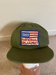Vtg 70's 80's Ohio National Guard Army Military Hat Cap Cover 7