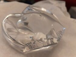 Steuben Crystal Classics Signed Hand Cooler American Eagle Crystal Figurine