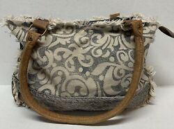 Myra Handbag Canvas And Fur $20.00