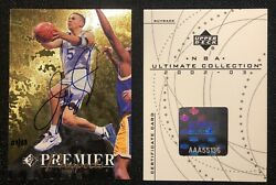 2002-03 Ultimate Collection Buyback Jason Kidd Rc Auto /33 Rookie Autograph Ud