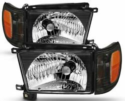 Fleetwood Bounder 2000 2001 2002 Clear Lens Headlights Lamps Turn Signals Set