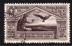 Italy 7.70 Lire + 1.30 Lire Air Mail Stamp C1930 Used Cat Andpound450 4830