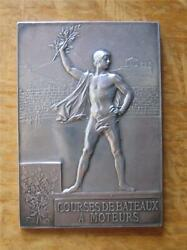 Silver Winnerand039s Medal For Motorboat Racing 1900 Paris Expo / Olympic Games Rare