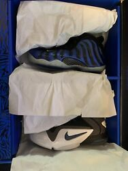 Nike Sharpie Penny Pack Royal Blue Size 9.5 Foamposite Air Max New