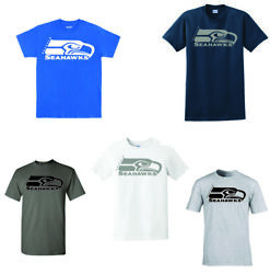 Seattle Seahawks T shirt Vinyl designs Color options MIX AND MATCH $17.25