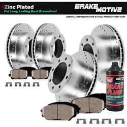 For 2002 Chevy Avalanche 2500 Front+rear Drill Slot Brake Rotors And Ceramic Pads