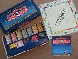 Vg Parker Brothers 1985 Deluxe Anniversary Edition Monopoly Wooden Houseshotels