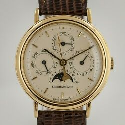 Eberhard And Co Les Quantiandegravemes Ref 36011 Menand039s Complete Calendar Moonphase 1990