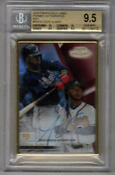 Ozzie Albies 2018 Topps Gold Label Framed Autographs Red / Rookie 20 / 25
