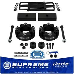 3 Front And 1 Rear Lift Kit For 2007+ Toyota Tundra 4x4 With Differential Drop