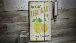 Ice Cold Lemonade Vintage Distressed Sign Personalized Wood Sign