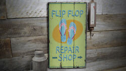 Shoe Repair Shop Novelty Distressed Sign, Personalized Wood Sign