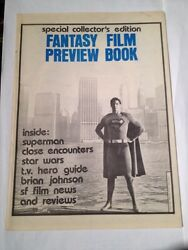 Special Collector's Edition Fantasy Film Preview Book 1977 , Superman Cover