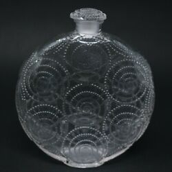 Rene Lalique Clear Glass 'forvil 8 Relief' Perfume Bottle