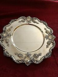 Ornate Gorgeous Redlich Silver Company Sterling 10 1/2 Tray/platter/charger