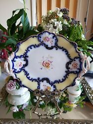 Antique English Hand Painted Porcelain Plate 1830-40s