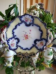 Antique English Hand Painted Plate Porcelain 1830-40s