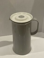 Guc Vintage Tupperware Tuppertherm Pitcher Insulated Grey 1985 1l Clean