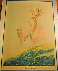 Rare Louis Icart Spring Song Talio-crome 1934 Framed Brown And Bigelow Print Art