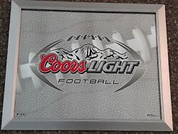 Coors Light Football Bar Mirror...local Pick-up Only