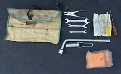 Vintage Toyota Tool Kit Roll 1960and039s- 1970and039s Cars And Truck Tools Lug Wrench Japan