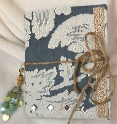 Junk Journal Handcrafted W Mother Of Pearl Tassel, Lots Of Pages Cool Stuff
