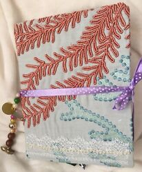 Junk Journal Fabric Handcrafted W Beaded Tassel, Lots Of Pages Cool Stuff