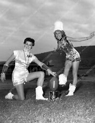 8b6-118 College Faculty Cheer Squad Football Pinup In Band Uniforms 8b6-118