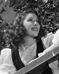Lyoung-20 Loretta Young Posting By Fence Medium Close Up Lyoung-20 Lyoung-20