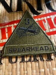 3rd Armored Division Spearhead U.s. Army Military Cloth Patch Insigniaandnbsp