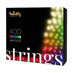 Twinkly 400 Led Rgb Multicolor + White 105 Ft. String Lights Open Box