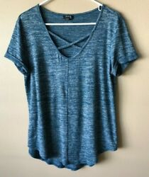NEW w o Tags A.n.a Blue Long Tee Top Size L $10.00