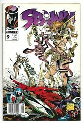 Spawn # 9 1st Appearance of Angela Newsstand Edition McFarlane Gaiman