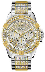 Watch Man Guess Watches Gents Frontier W0799g4 Of Stainless Steel Gold Coloured