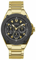 Watch Man Guess Watches Gents Legacy W1305g2 Of Stainless Steel Gold Coloured