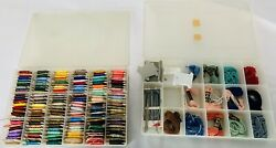 Huge Lot Many Colorsembroidery Thread Yarn In Organizers Estate Sale