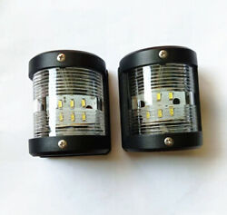 Led Masthead And Stern Light Marine Boat Yacht Navigation Light 12v 2 Pcs