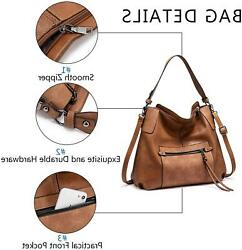 Realer Hobo Purses and Handbags for Women Shoulder Bag A brown Size No Size P $34.01