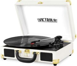 Victrola Bluetooth Nostalgic Vintage 3 Speed Record Player Turntable Aux-in Rca