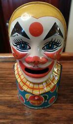 Vintage Clown Bank - J. Chein And Co. - Great Condition - Working