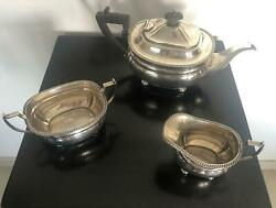 Mappin And Webb Sheffield Sterling Silver Tea Serving Set 1932