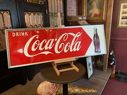 1953 Coca-cola Coke 54 Tin Embossed Advertising Sign Watch Video
