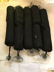 Lot Of 6 Jet Logic Pwc Bumpers 3x18 Nylon Covers W/large Suction Cups