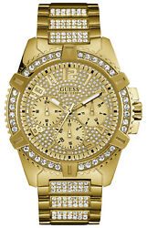 Watch Man Guess Watches Gents Frontier W0799g2 Of Stainless Steel Gold Coloured