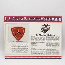 U.s. Combat Patches Of World War Ii 2 3rd Marine Division Shoulder Sleeve New