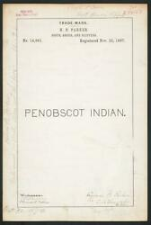 Photo H. B. Parker For Penobscot Indian. Brand Bootsshoesslippers