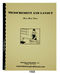 Sheet Metal Working Series Measurement And Layout Instruction Manual 1322