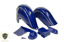Indian Chief Front And Rear Blue Fender Mudguards + Chain Guard Post War |fit For
