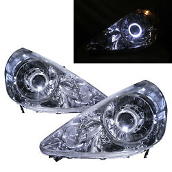 Fit/jazz Gd 01-06 Guide Led Halo Feux Avant Phare Chrome Us For Honda Lhd